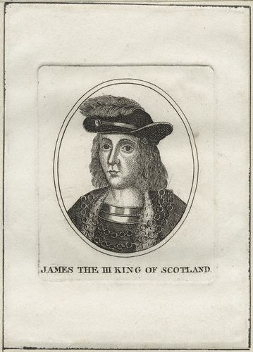 Engraving of King James III of Scotland from the 18th C.