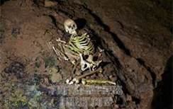 Skeleton of 'Cheddar Man' found in Gough's Cave, Somerset, England