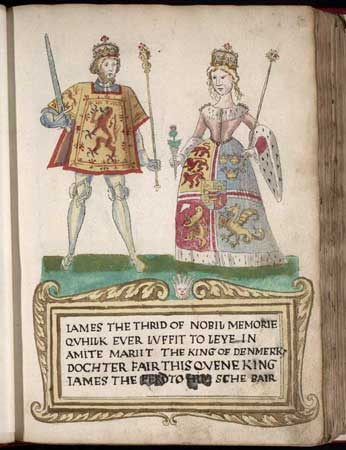King James III of Scotland and his Queen Consort Margaret of Denmark