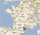 Map of Perpignan, France