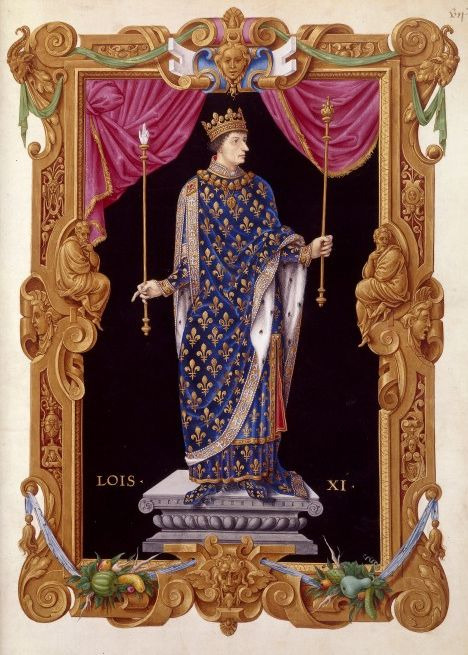 Depiction of Margaret Stewart's husband the Dauphin Louis as King Louis XI of France