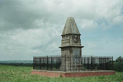 King Alfred's Monument, Athelney Island, Somerset, England