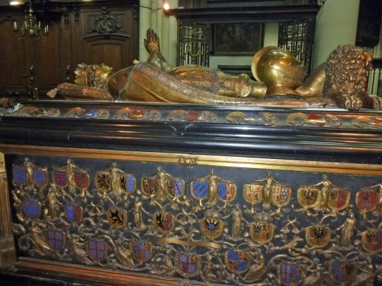 Tomb of Charles the Bold in the Church of Our Lady, Bruges. Photo courtesy of Tina Dallas