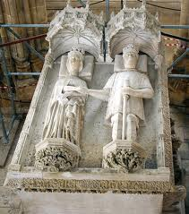 Effigies of Philippa of Lancaster and King Joao I of Portugal in the mausoleum of Batalha