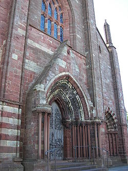 Main entrance of St. Magnus Cathedral