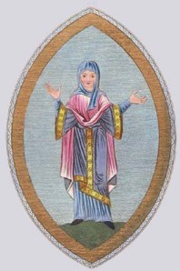 An Anglo-Saxon woman, possibly a nun