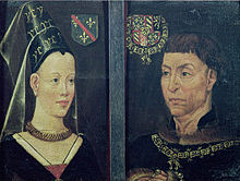 Charles the Bold and his second wife, Isabella of Bourbon