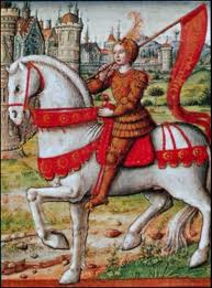 Depiction of Joan of Arc on horseback from 1505