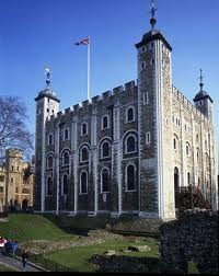 Tower of London where Elizabeth de Burgh was imprisoned