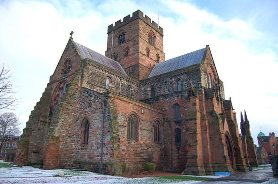 Carlisle Cathedral from the Wikimedia, in public domain