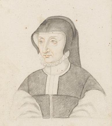 Engraving of Antoinette de Bourbon, Duchess of Guise