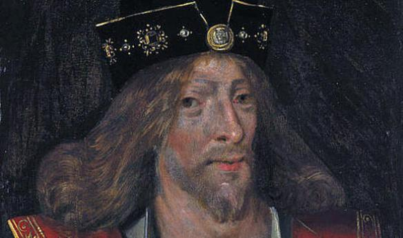King of Scots, James I from a 16th Century painting