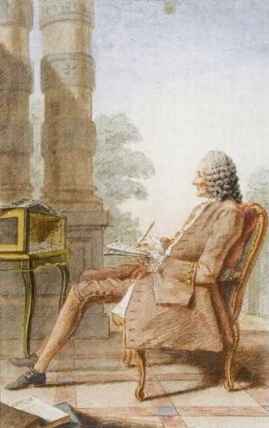 Monsieur Rameau painted by Carmontelle in 1760