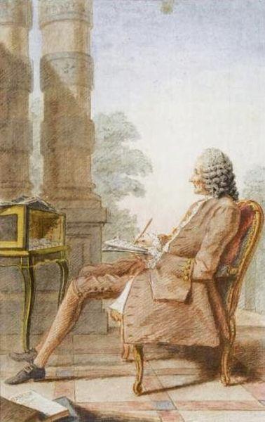 Monsieur Rameau painted by Carmontelle in 1760
