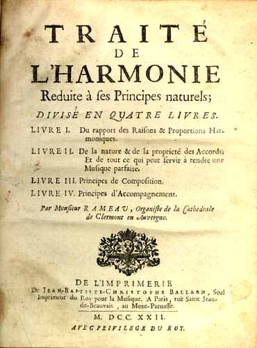 "Title page of Rameau's ""Treatise on Harmony"""