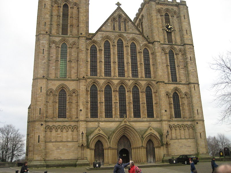 West Facade of Ripon Cathedral, By Daniel Morrison (flickr.com) [CC-BY-2.0 (http://creativecommons.org/licenses/by/2.0)], via Wikimedia Commons