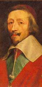 Portrait of Jean du Plessis Armand, Cardinal Richlieu by Philippe de Champaigne