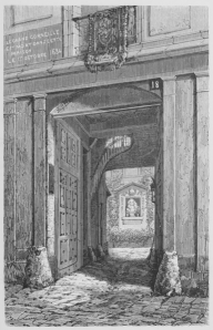 "Drawing of the house where Pierre Corneille died from the ""Works - Maty-Laveaux"""