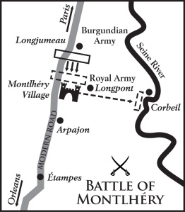 Map of the The Battle of Montlhéry
