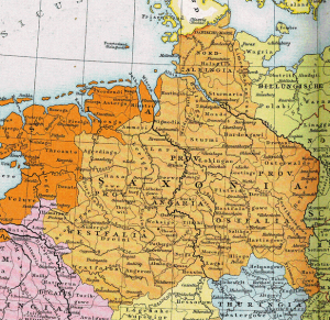 Map of the Holy Roman Empire in 1000 AD