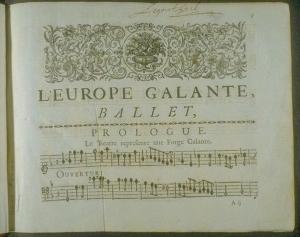 "Score of André Campra's Ballet ""L'Europe Galante"", 1698"