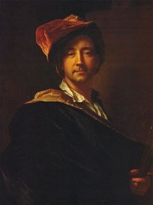 Self portrait of Hyacinthe Rigaud