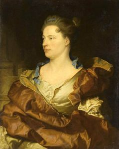 Portrait of Hyacinthe Rigaud's wife, Élisabeth de Gouy painted by Rigaud