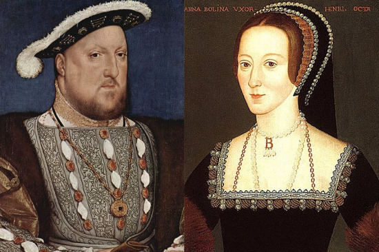 King Henry VIII of England and his second wife, Anne Boleyn