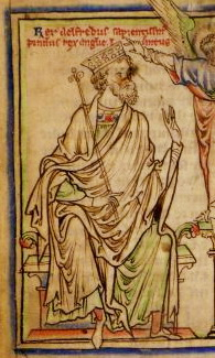 Alfred the Great.  Image in the public domain