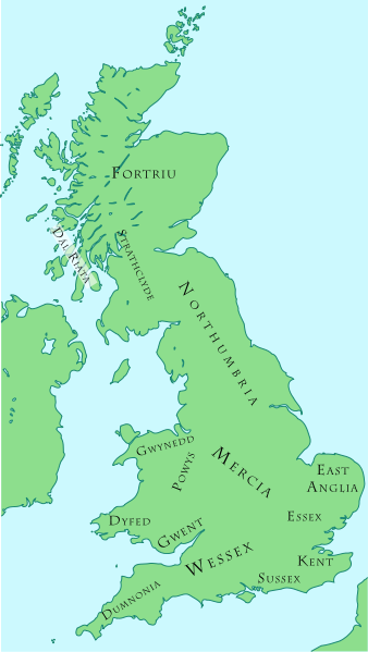Map of British Kingdoms c. 800 AD