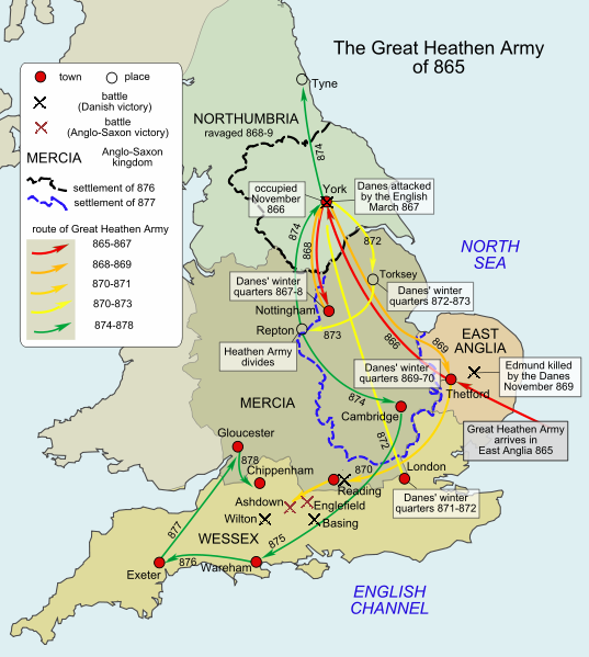 Image by Hel-hama based on Stenton 'Anglo-Saxon England' chapter 8 and Hill ' An Atlas of Anglo-Saxon England' p. 40-1