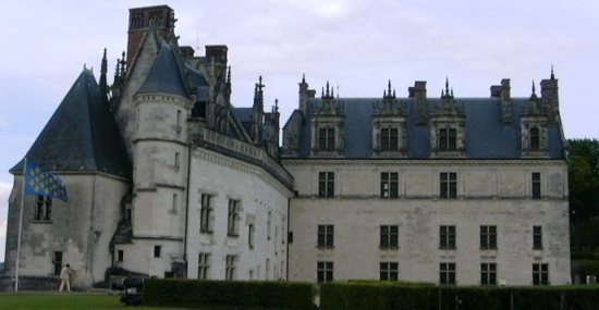 Charlotte's home as Queen of France, the Château of Amboise (Image in the public domain)