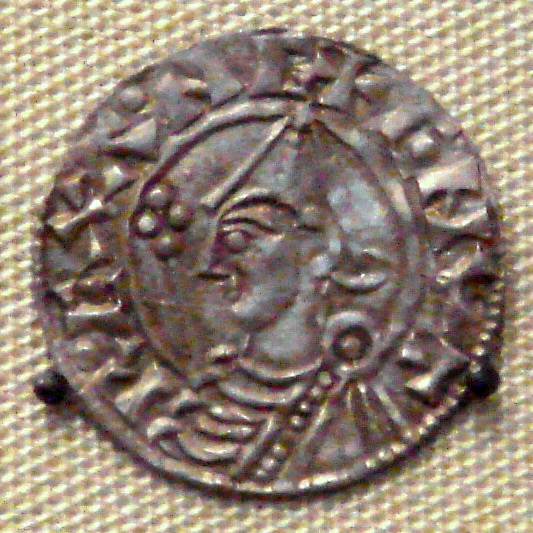 Coin with the image of Cnut the Great (Image in the public domain)
