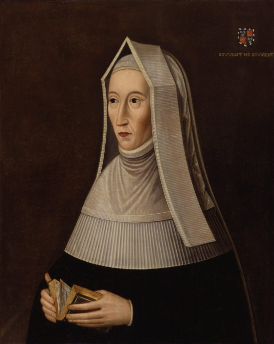 Lady Margaret Beaufort at Prayer from the National Portrait Gallery (Image in the public domain)