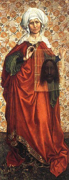 Saint Veronica by Robert Campin, dated 1410