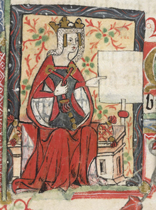 Empress Matilda from a 15th century manuscript