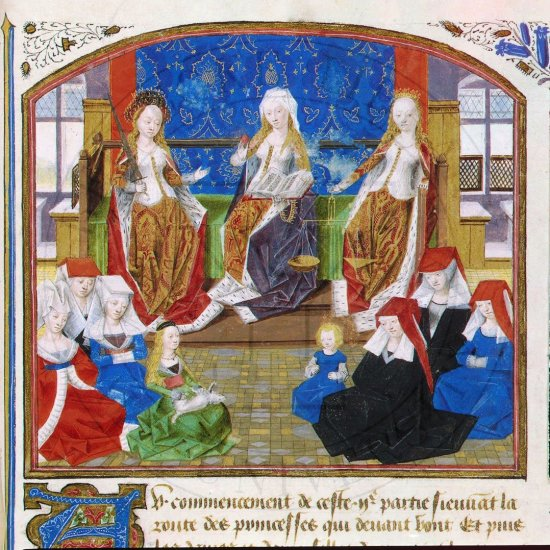 Medieval-Manuscript-Women-and-children