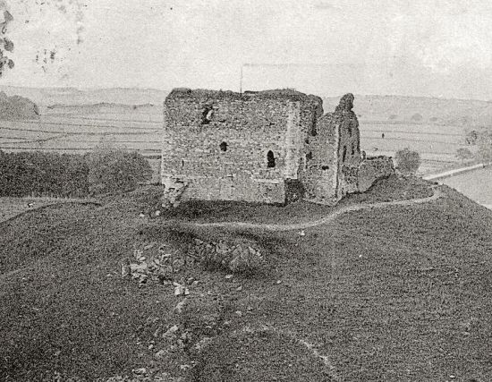 View of the remains of Dundonald Castle taken in 1903