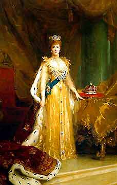 Portrait of Queen Alexandria (Attribution:  http://www.explore-parliament.net/nssMovies/01/0142/0142_.htm)