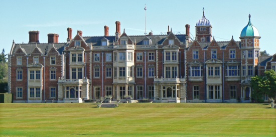 Sandringham House (Attribution:  http://www.tournorfolk.co.uk/sandringham.html)
