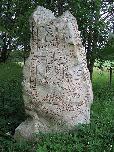 Runestone from Sweden.  Image by Berig