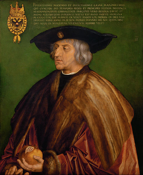 Portrait of Maximilian, King of the Romans by Albrecht Durer