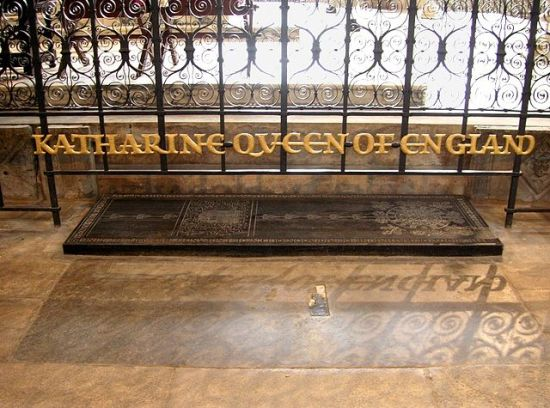 Grave of Katherine of Aragon in Peterborough Cathedral