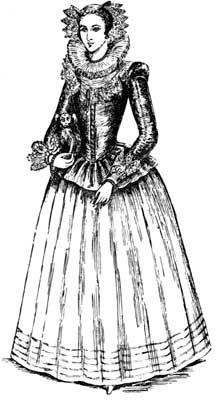 Woman in 16th Century Scottish dress (http://www.gutenberg.org/files/34845/34845-h/34845-h.htm)