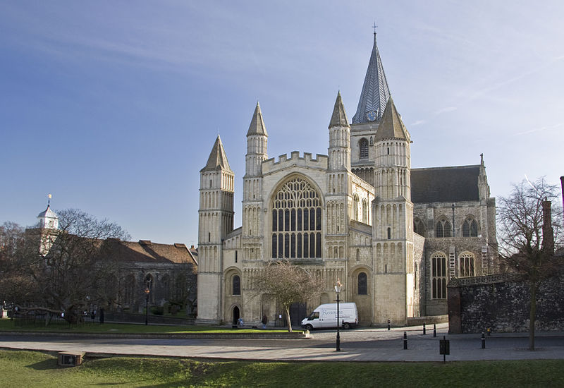 A short history of Rochester Cathedral Rochester_cathedral_from_west