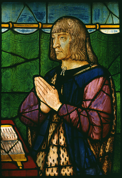 Stained glass portrait of King Louis XII of France