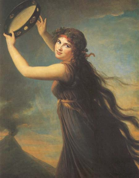 Portrait of Emma Hamilton as a Bacchante, 1790