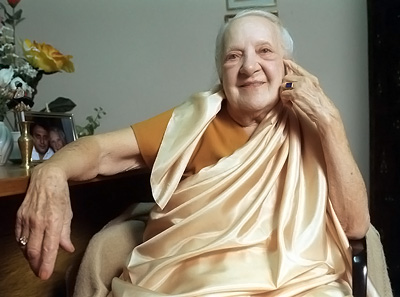 "Russian-born Indra Devi, known to followers as the ""First Lady of Yoga"" who taught Hollywood how to .."