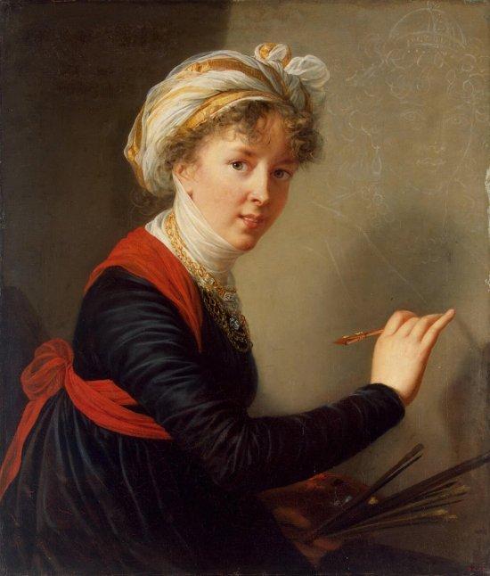 Elisabeth Vigee Le Brun self portrait, 1800