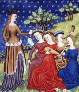 medieval-women-playing-music